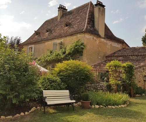Wooden bench, La Maison Louverie