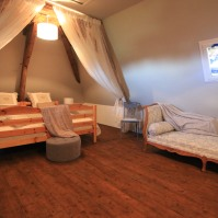 Attic with two extra beds