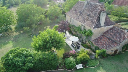 La Maison Louverie from the air