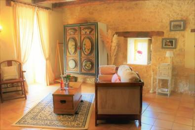 Chambre Truffe, terrace door